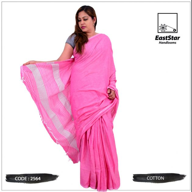 Code #2564 Handloom Cotton Saree
