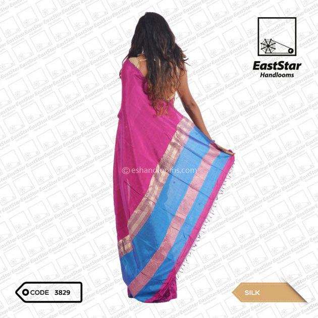 Code #3829 Handloom Silk Saree
