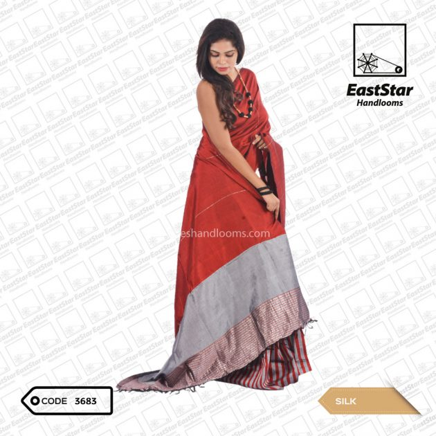 Code #3683 Handloom Silk Saree