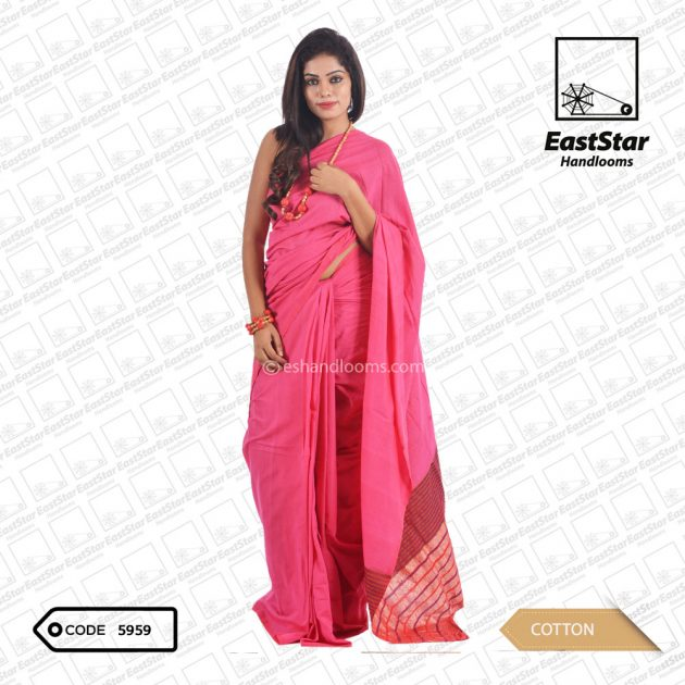 Code #5959 Handloom Cotton Saree