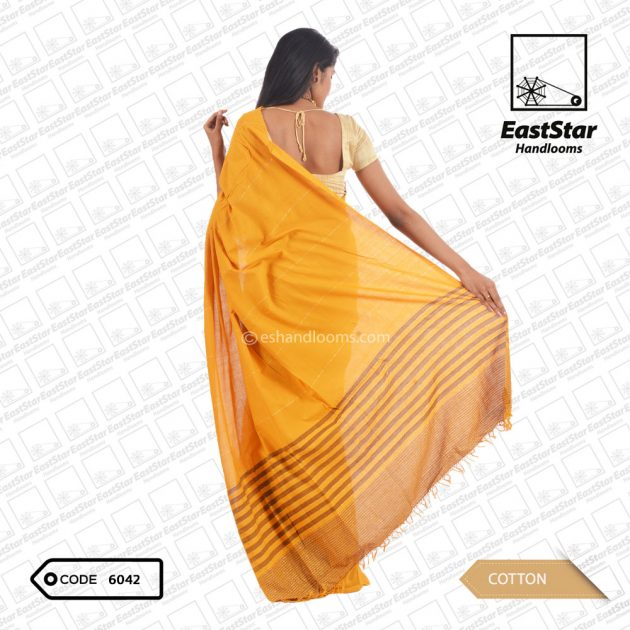 Code #6042 Handloom Cotton Saree