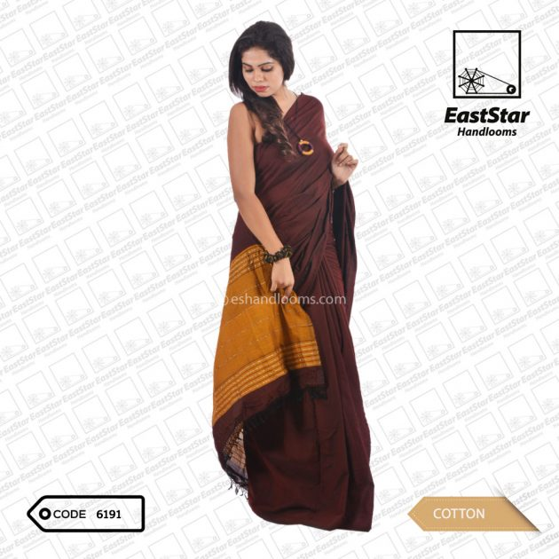 Code #6191 Handloom Cotton Saree