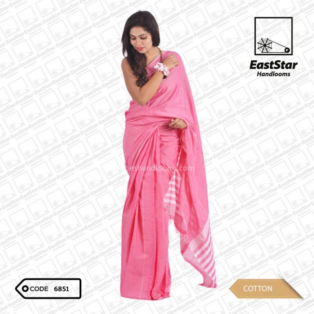Code #6851 Handloom Cotton Saree