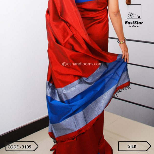 Code #3105 Handloom Silk Saree
