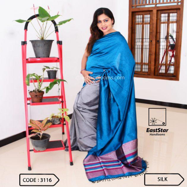 Code #3116 Handloom Silk Saree
