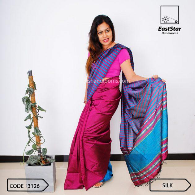 Code #3126 Handloom Silk Saree