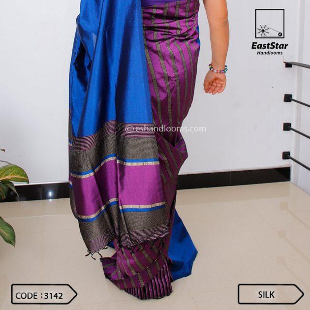 Code #3142 Handloom Silk Saree
