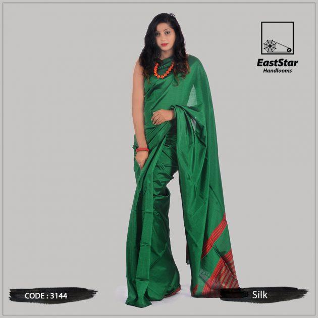 Code #3144 Handloom Silk Saree