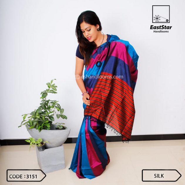 Code #3151 Handloom Silk Saree