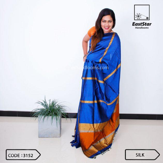 Code #3152 Handloom Silk Saree