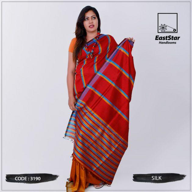 Code #3190 Handloom Silk Saree