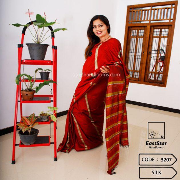 Code #3207 Handloom Silk Saree