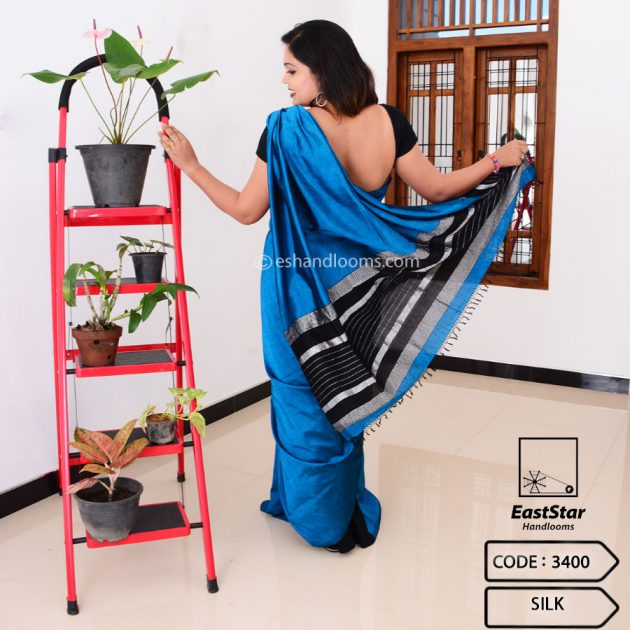 Code #3400 Handloom Silk Saree