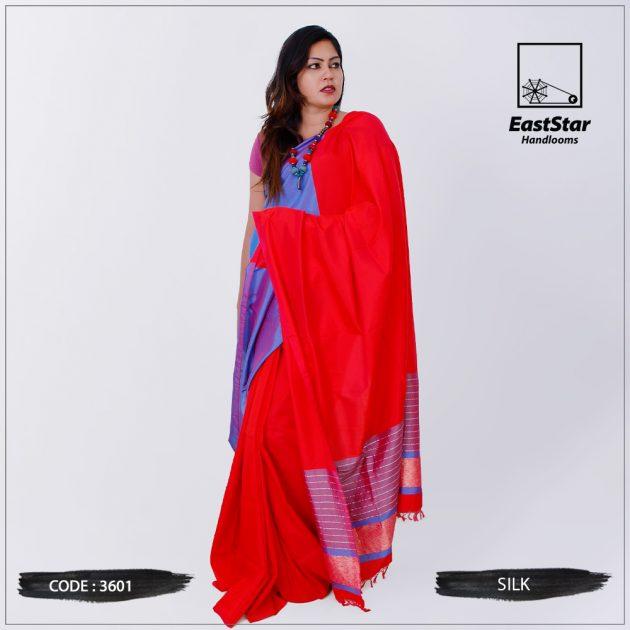 Code #3601 Handloom Silk Saree