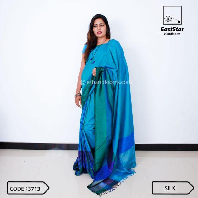 Code #3713 Handloom Silk Saree