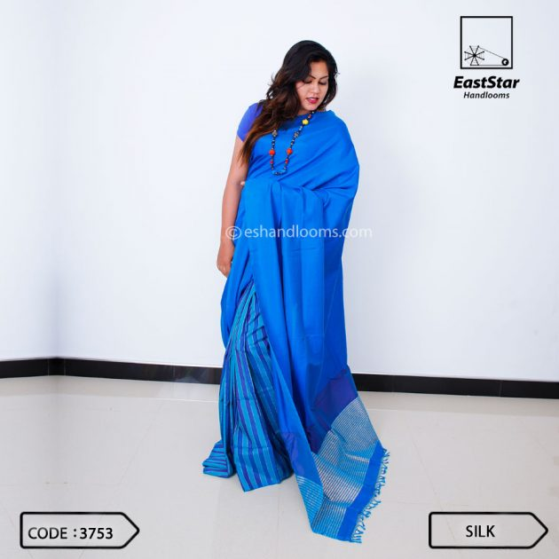 Code #3753 Handloom Silk Saree