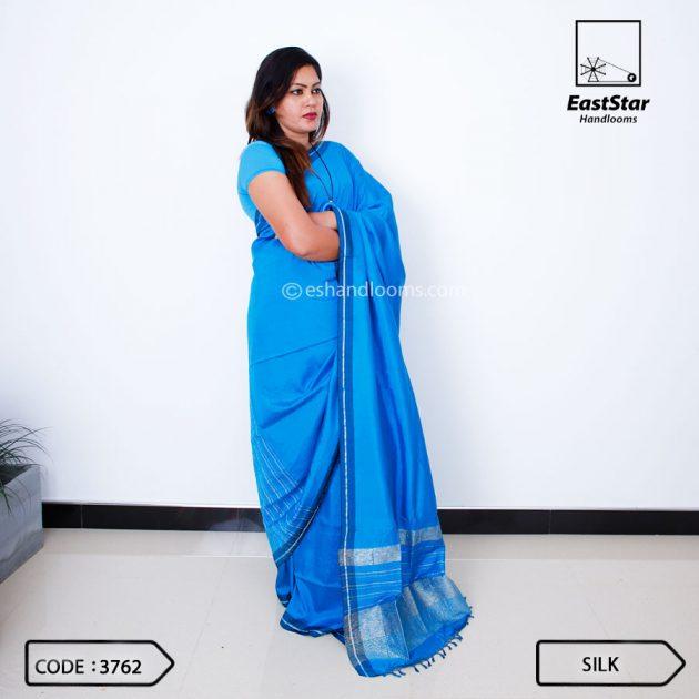 Code #3762 Handloom Silk Saree