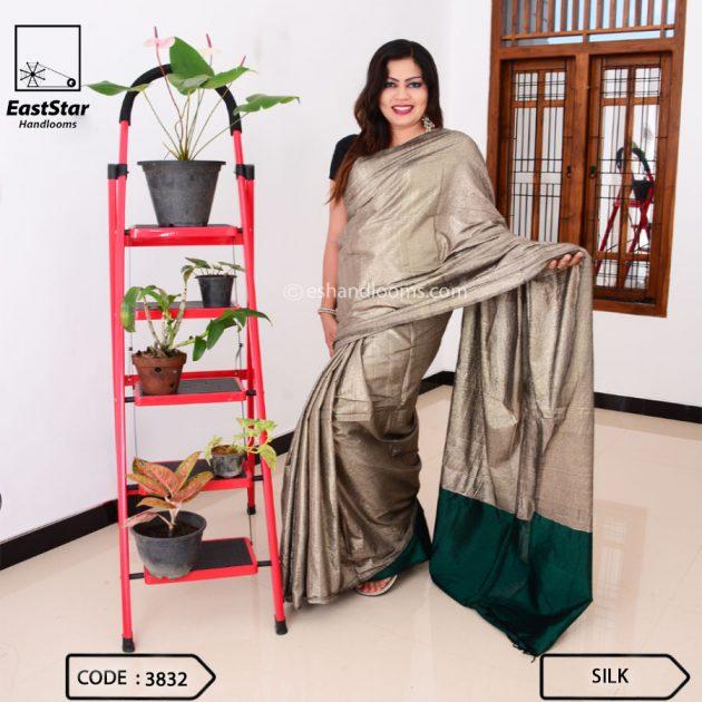 Code #3832 Handloom Silk Saree