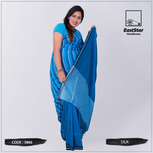Code #3866 Handloom Silk Saree