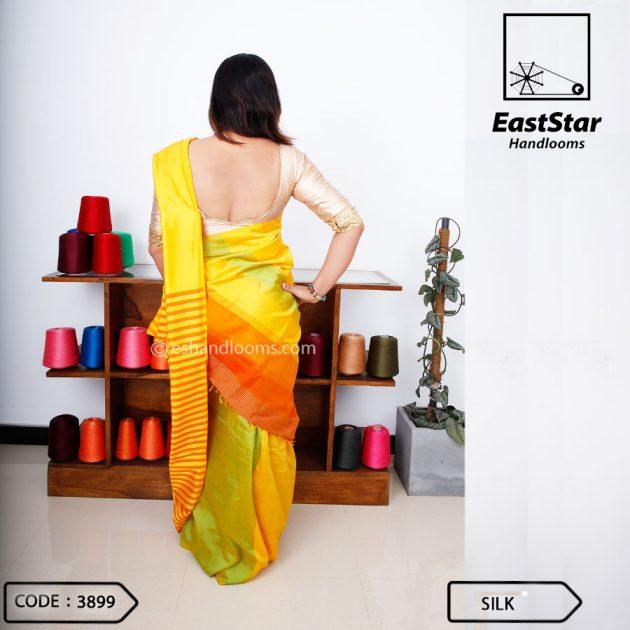 Code #3899 Handloom Silk  Saree