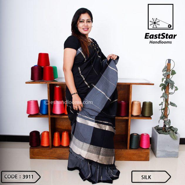 Code #3911 Handloom Silk Saree