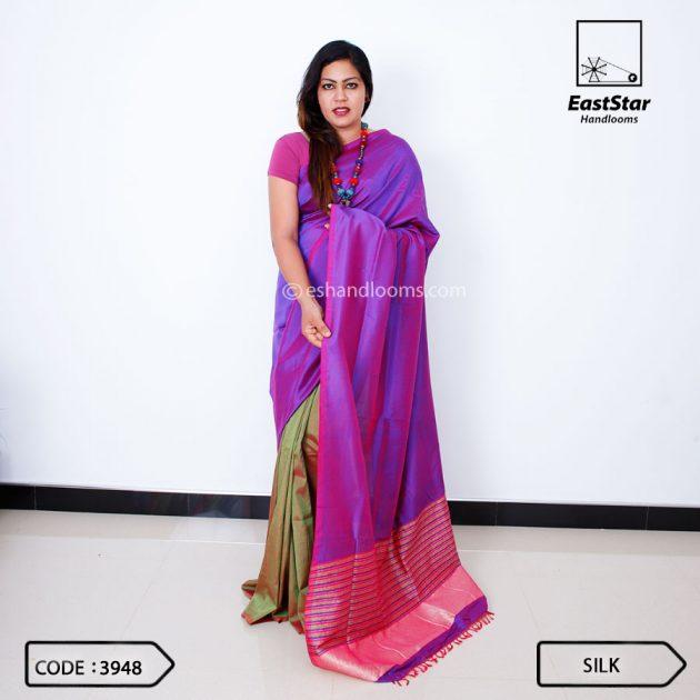 Code #3948 Handloom Silk Saree