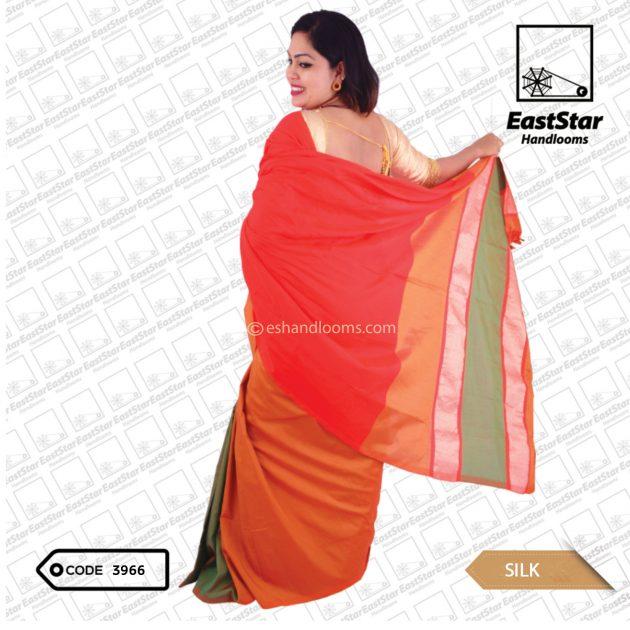 Code #3966 Handloom Silk Saree