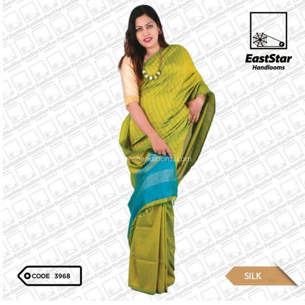Code #3968 Handloom Silk Saree
