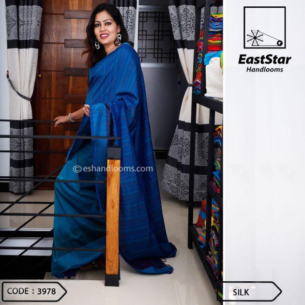 Code #3978 Handloom Silk  Saree