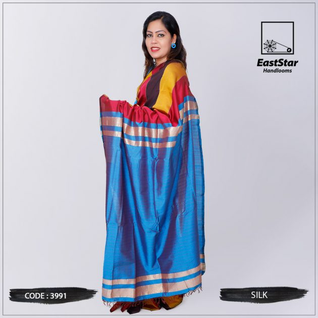 Code #3991 Handloom Silk Saree