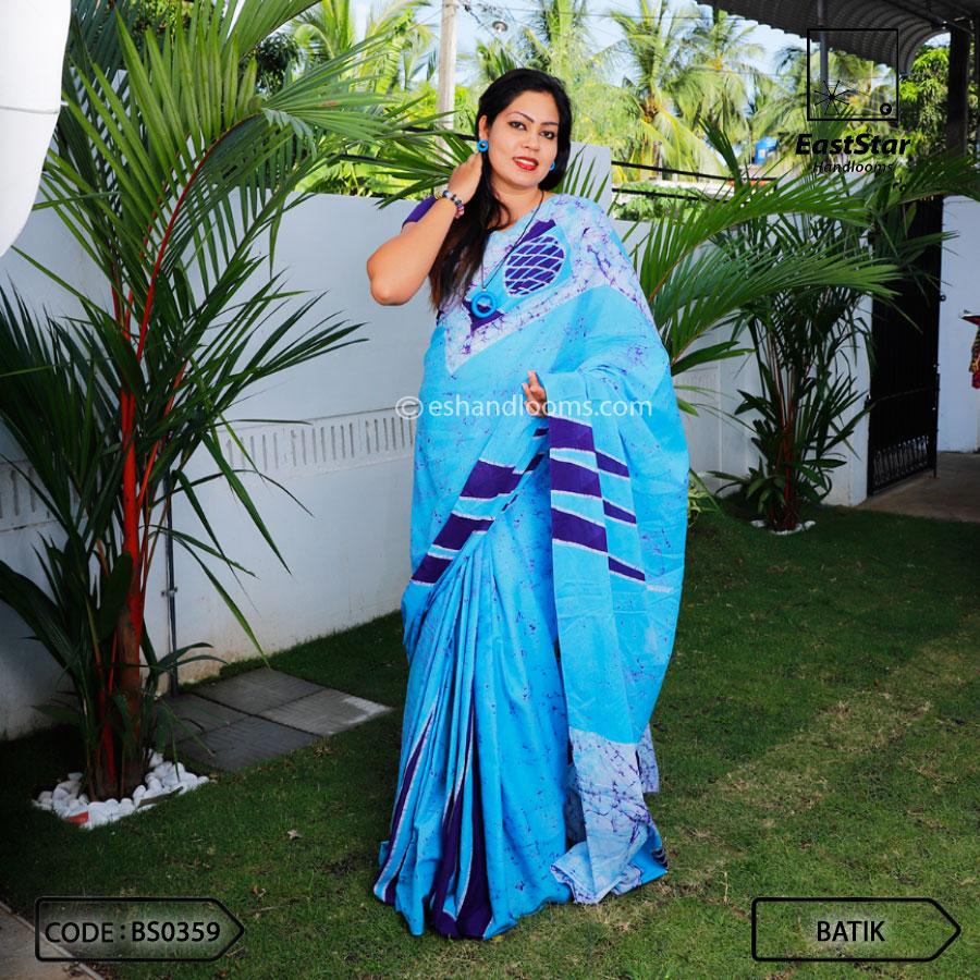 Code #BS0359 Batik Saree