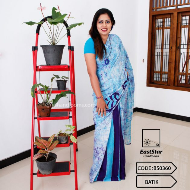 Code #BS0360 Batik Saree