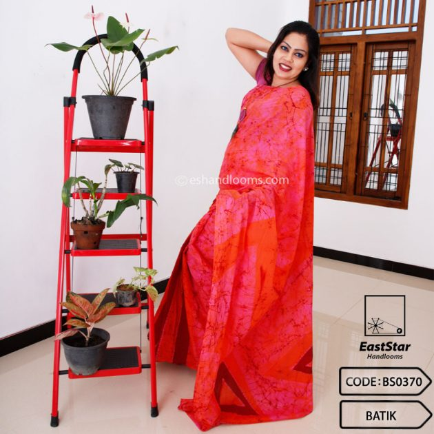 Code #BS0370 Batik Saree