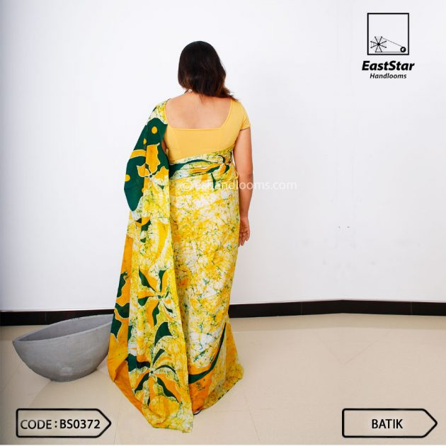 Code #BS0372 Batik Saree