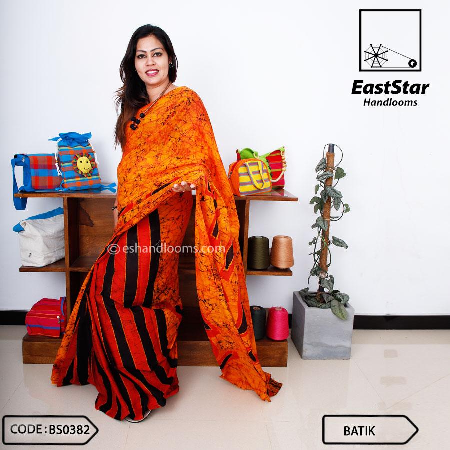 Code #BS0382 Batik Saree