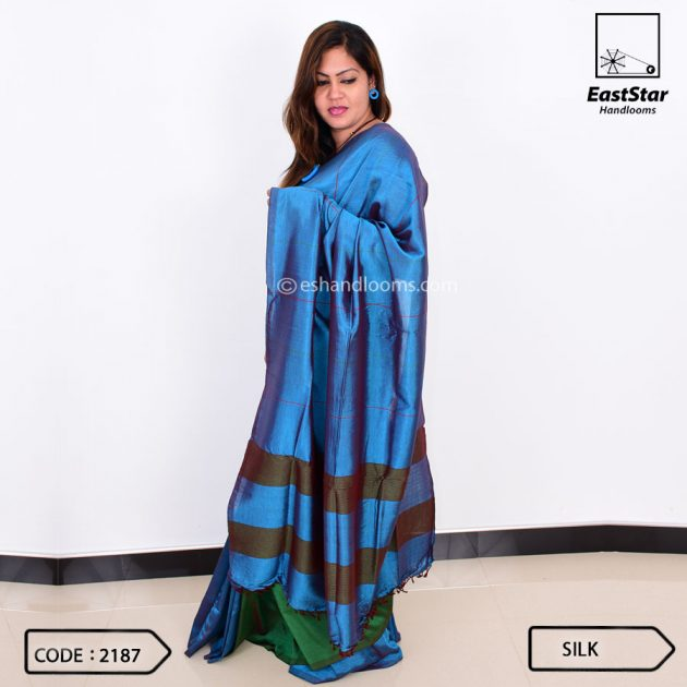 Code #2187 Handloom Silk Saree