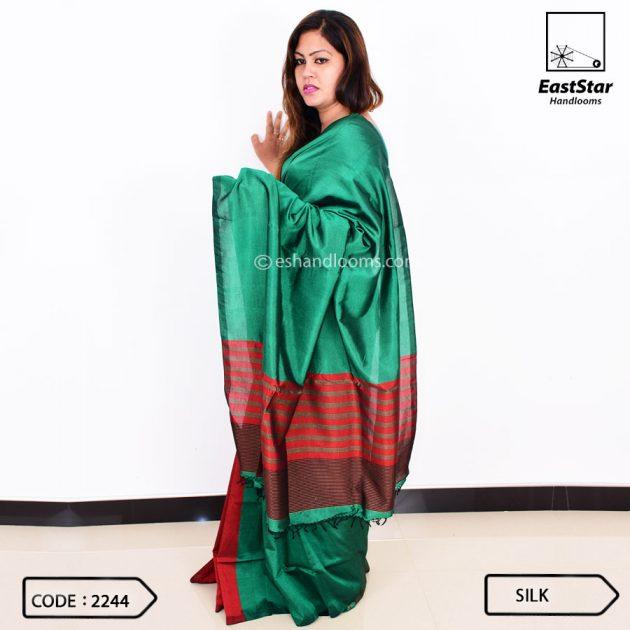 Code #2244 Handloom Silk Saree