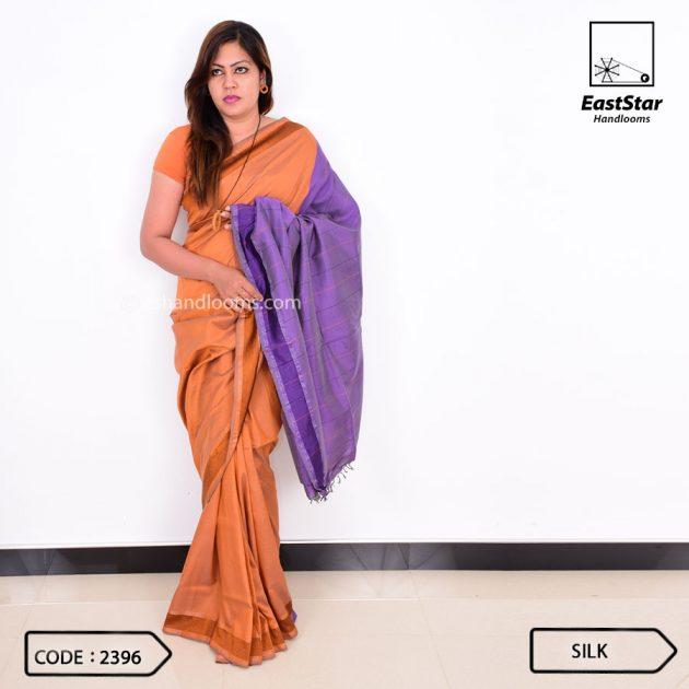 Code #2396 Handloom Silk Saree