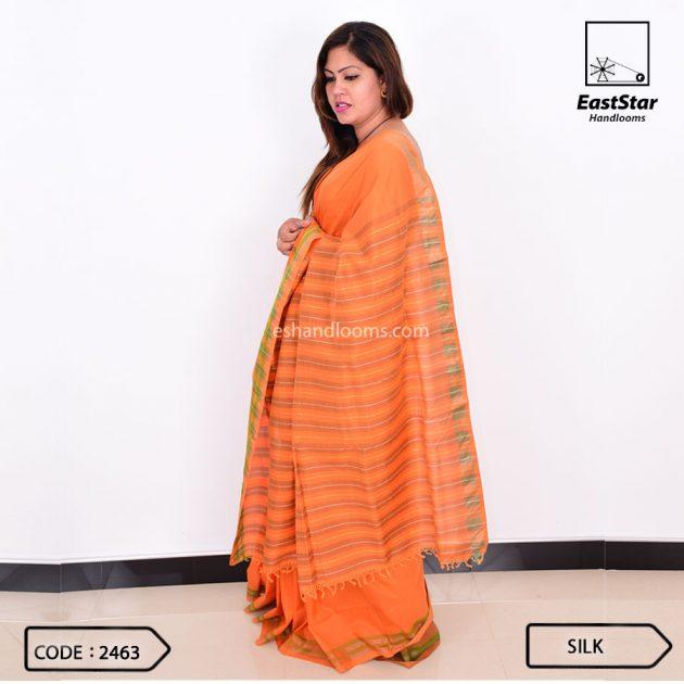 Code #2463 Handloom Silk Saree