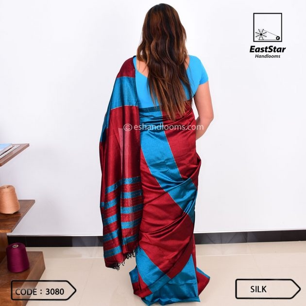 Code #3080 Handloom Silk Saree
