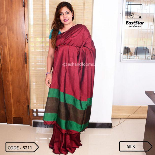 Code #3211 Handloom Silk Saree
