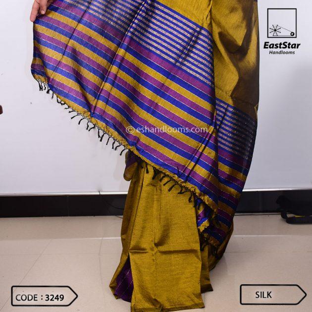 Code #3249 Handloom Silk Saree