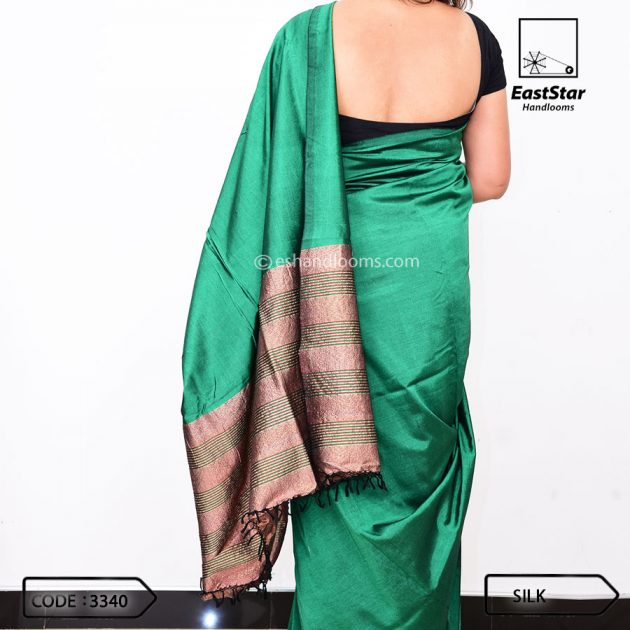 Code #3340 Handloom Silk Saree