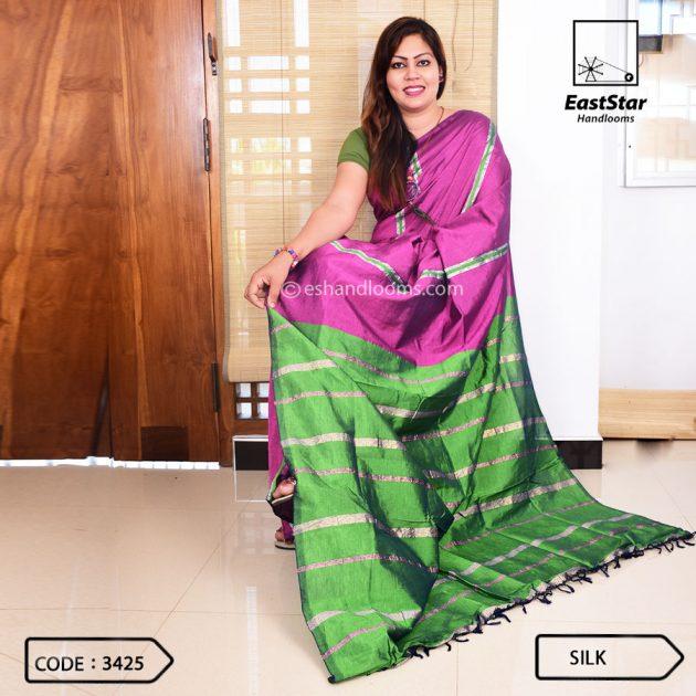 Code #3425 Handloom Silk Saree