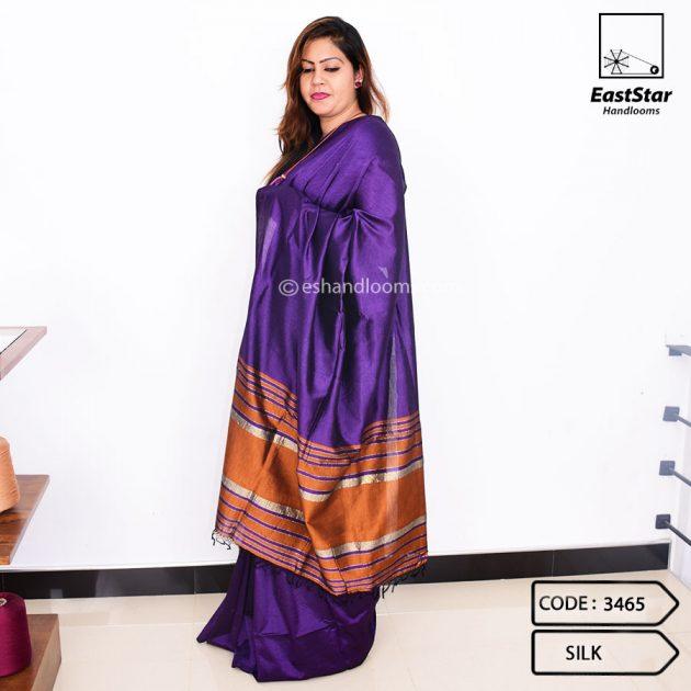 Code #3465 Handloom Silk Saree
