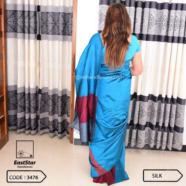 Code #3476 Handloom Silk Saree