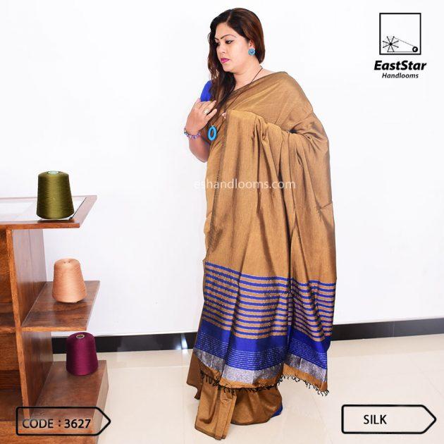 Code #3627 Handloom Silk Saree