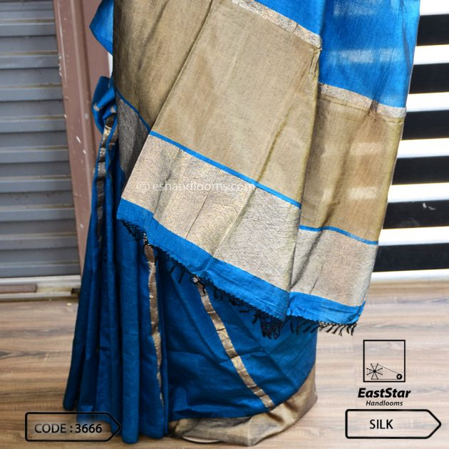 Code #3666 Handloom Silk Saree
