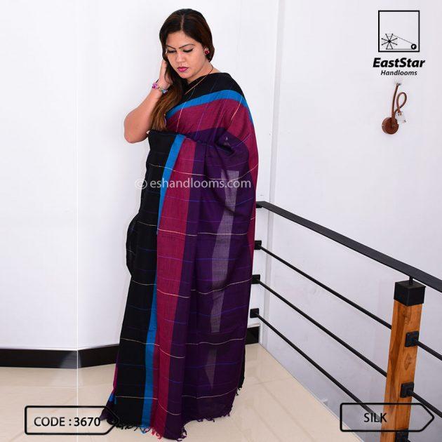 Code #3670 Handloom Silk Saree