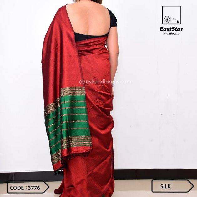 Code #3776 Handloom Silk Saree